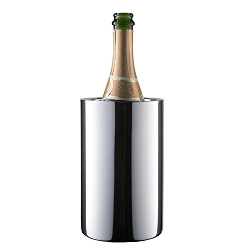 Enoluxe Wine Chiller Bucket - Insulated Wine Cooler/Champagne Bucket - Fits All 750 ml Bottles, Keeps Wine Cold (Stainless Steel)