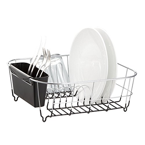 Neat-O Deluxe Chrome-Plated Steel Small Dish Drainers (Black)