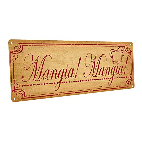 Mangia, Mangia Metal Sign, Italian, Country Decor, Kitchen Decor