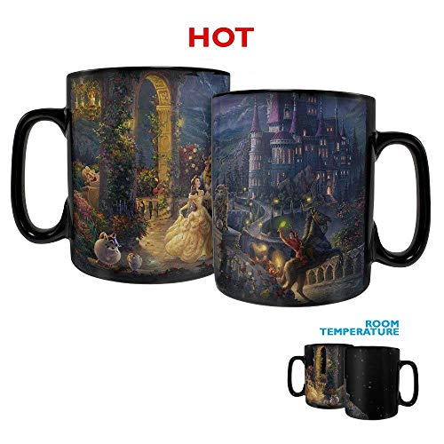 Disney  Beauty and the Beast  Dancing in the Moonlight - Morphing Mugs Heat Sensitive Clue Mug  Full image revealed when HOT liquid is added - 16oz Large Drinkware