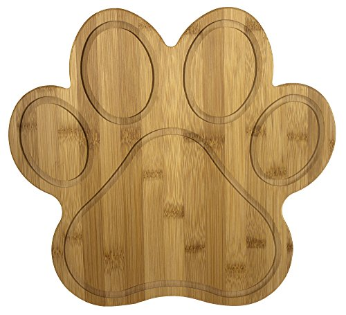 Totally Bamboo 20-7616 Paw Shaped Bamboo Serving And Cutting Board, 11' x 10', Natural