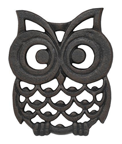 Cast Iron Owl Trivet. Makes a Perfect Owl Gift - by Home-X
