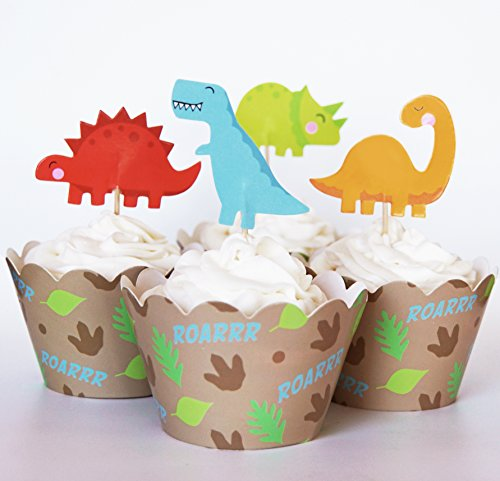 Darling Dinosaurs Party - Red Fox Tail (Darling Dinosaurs Cupcake Kit)