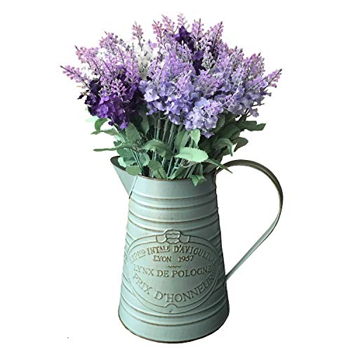 VANCORE Rustic Style Shabby Chic Large Metal Vase Pitcher
