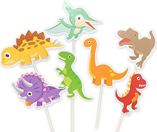 35-Pack Baby Dinosaur Cupcake Toppers Picks, Dinosaur cake Toppers for Kids Birthday Baby Shower Party Decorations Supplies